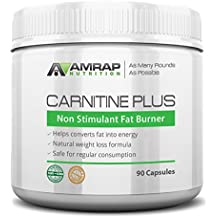 AMRAP Nutrition - Carnitine Plus - Natural Pre-workout Weight-Loss Supplement - Converts Fat into Energy - Lipotropic Blend for Accelerated Weight Loss