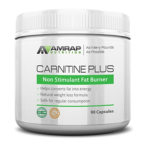 AMRAP Nutrition – Carnitine Plus – Natural Pre-workout Weight-Loss Supplement – Converts Fat into Energy – Lipotropic Blend for Accelerated Weight Loss – Safe for Everyday Use
