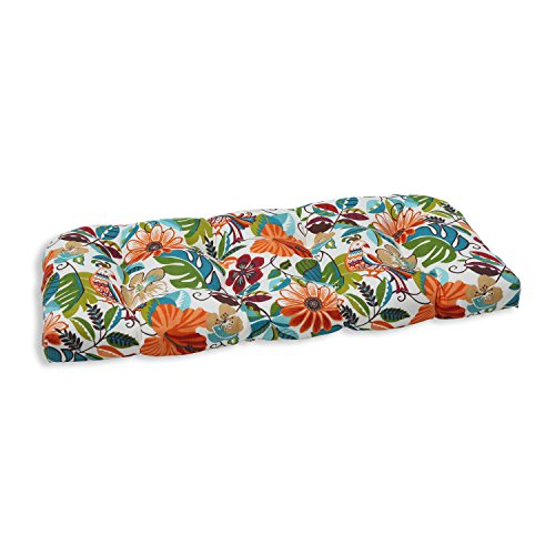 Pillow Perfect Outdoor/Indoor Lensing Jungle Wicker Loveseat Cushion