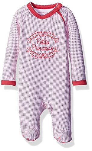 Blue Banana Girls' Baby Sleeper Side Zip, Fuchsia Dots, 00 Months