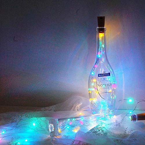Faraone4w Led String Lights Decorative Fairy String Lights, Copper Wire Wine Bottle Lights with Cork, for Bedroom Patio Fence Home Outside Gazebo Wedding Party Festival Christmas Decorations