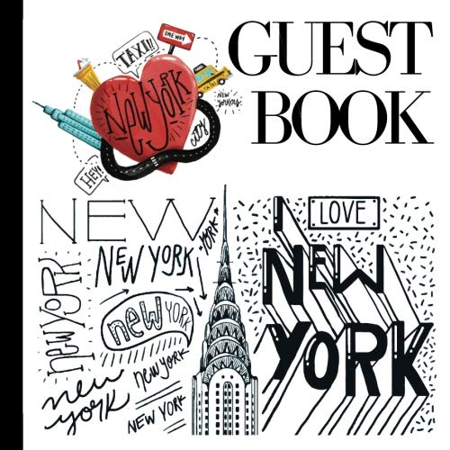 Guest Book: NY Party Guest Book Includes Gift