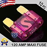 10 Pack 120 AMP Gold APX MAXI Fuse Blade 120A Car Truck Boat Marine RV