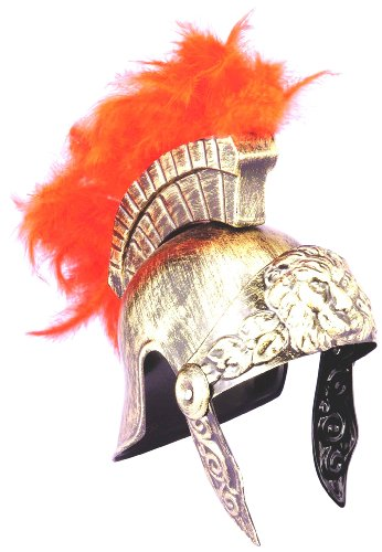Forum Roman Lion Costume Helmet, Gold, One Size