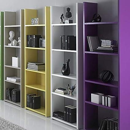 Nouvomeuble Meuble Bibliotheque Design Blanche Laquee