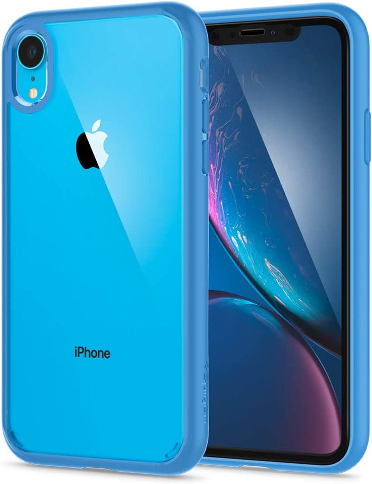 Spigen Ultra Hybrid 360 Designed for Apple iPhone XR Case (2018) Tempered Glass Screen Protector Included - Blue