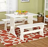 Cheap Country Style Antique White Kitchen Table Set
