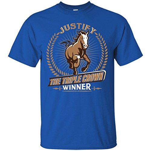Justify The Triple Crown Winner Horse Racing T-Shirt ()