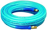 Amflo 14-50 Blue 300 PSI Polyurethane Air Hose 1/4'' x 50' With 1/4'' MNPT Swivel and Field Repairable Ends