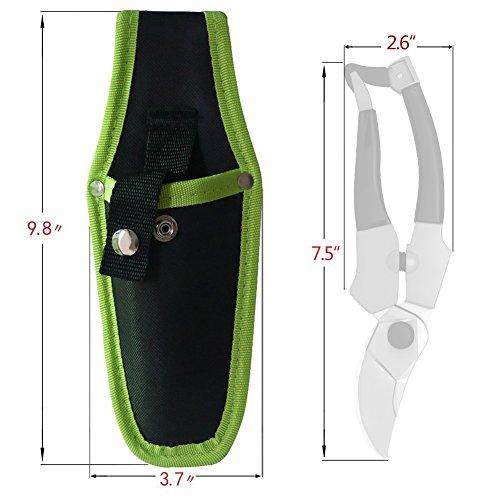 Kemaier Pruner Holster - Nylon Pruning Shears Garden Cut Nylon Hand Trimmer Bag (Green)