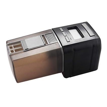 D&F Dispensador Automático De Alimento para Peces con Pantalla LCD Y El Tiempo De Alimentación Configuración