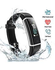 HUTbIT Fitness Armband, Fitness Tracker Wasserdicht IP68 mit 14 Trainingsmodi LCD-Farbbildschirm Helligkeit Einstellbar mit Pulsmesser Schrittzähler