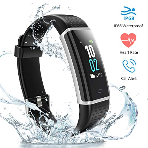 HOMIEE Fitness Tracker, Activity Tracker Watch Wristband with Heart Rate Monitor, IP 68 Waterproof 14 Exercise Modes with Touch Screen for Android iOS