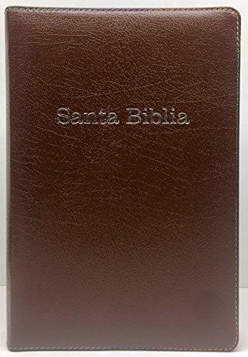 RVR 1960 Biblia de Estudio Arco Iris, chocolate, piel fabricada con cierre, con indice