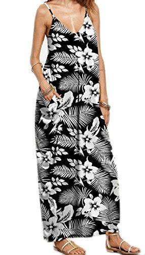 Coolred-femmes Fronde Bouffante Taille Plus Backless Col Cranté Mode Floral Robe Longue 9