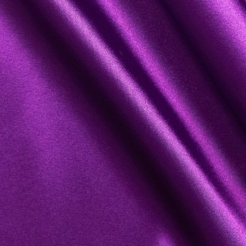Charmeuse Satin Jewel Purple Fabric by The Yard ()