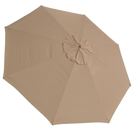 Tan 13ft Outdoor Patio Umbrella Top Canopy