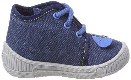 Superfit Bully - Pantuflas de caña alta de material sintético niño Blau (Water)
