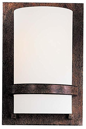 (Minka Lavery 342-357 1 Light Wall Mount, Iron Oxide Finish)