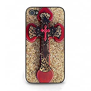 Iphone 4 4s Cell phone Case,Exquisite Top Crafts Unique Religio Sign Cross Phone Case Cover for Iphone 4 4s Cross Fashion