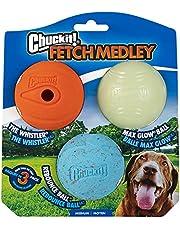 Chuckit! Medium Fetch Medley Balls 2.5 inch, 3-Pack