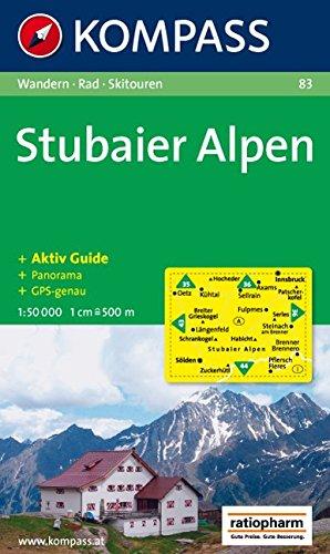 Stubaier Alpen: Wander-, Bike- und Skitourenkarte. Mit Panorama. GPS-genau. 1:50.000
