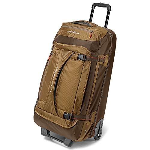 Eddie Bauer Unisex-Adult Expedition Drop-Bottom Rolling Duffel - Large, Hazelnut by Eddie Bauer