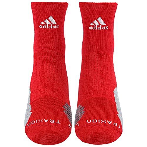 3722da84a adidas Traxion Menace Basketball/Football High Quarter Socks (1-Pack), Power