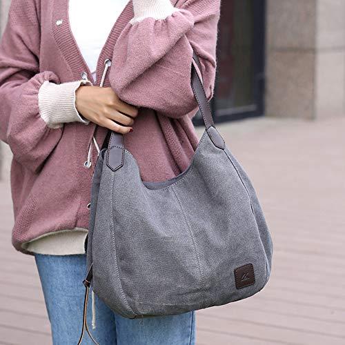 Bag Hobo Black TM Bag Canvas Tote GOLD Handbag KISS Shopping Shoulder BH7qaa