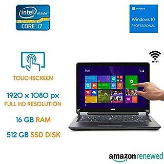 Dell Latitude E7440 Touch - Intel Core i7 - 16GB RAM - 512GB SSD - Full HD Touchscreen + Windows 10 Pro (Renewed)