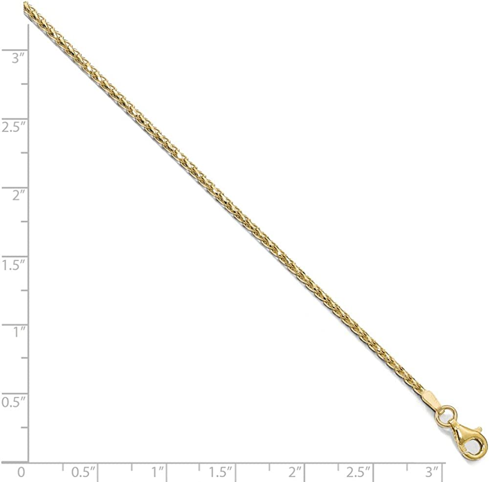 Leslies 10K 1.4 mm D//C Open Franco Chain; 24 inch