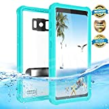 EFFUN Samsung Galaxy S8 Waterproof Case, IP68 Certified Waterproof Underwater Dustproof Snowproof Shockproof Case with Kick Stand, PH Test Paper and Floating Strap for Samsung S8 (5.8inch) Aqua Blue