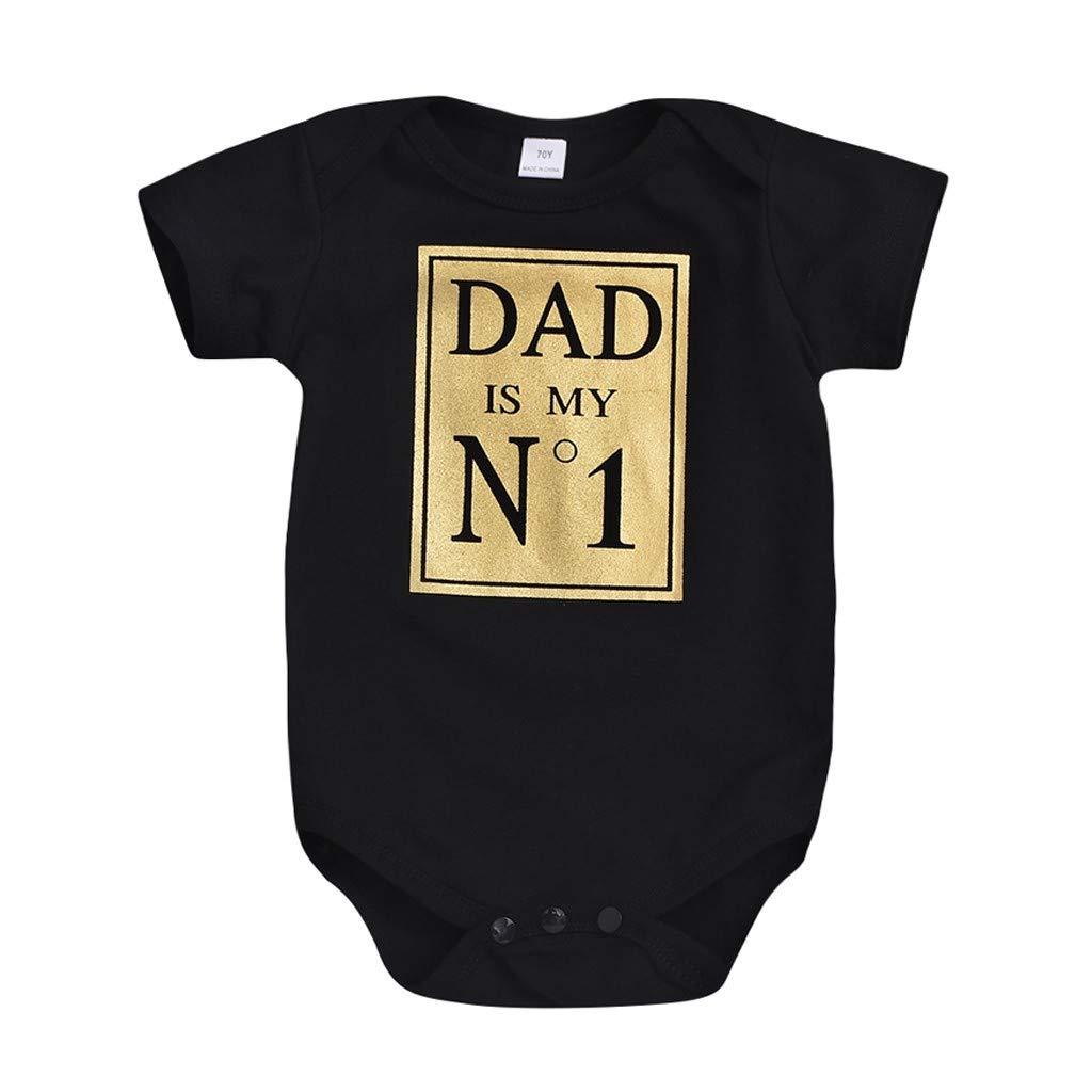 Lanskirt Unisexo Bodies para reci/én Nacido Infantil beb/és ni/ños ni/ñas Carta impresi/ón Estilo Simple Mameluco Pijamas Camisa Verano Casual 3-24 Meses Ropa Bebe ni/ña