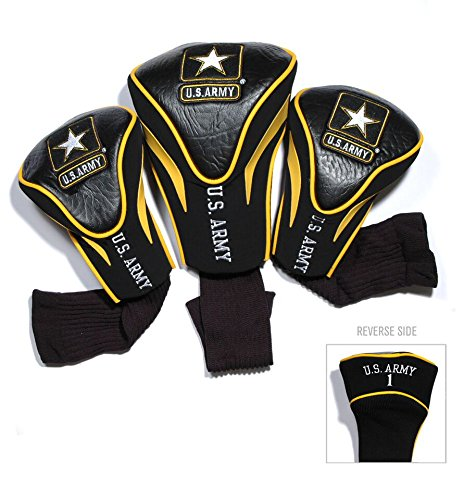 - Team Golf Military Contour Golf Club Headcovers (3 Count), Numbered 1, 3, X, Fits Oversized Drivers, Utility, Rescue & Fairway Clubs, Velour Lined for Extra Club Protection, Medium/Large