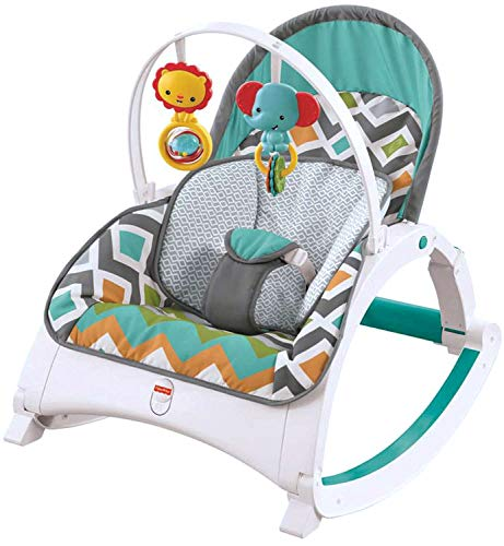Fisher-Price Newborn-to-Toddler Rocker, Glacier Wave