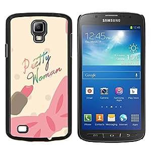 Dragon Case - FOR S4 Active I9295 (Do Not Fit S4) - pretty woman pink bow movie text pink - Caja protectora de pl??stico duro de la cubierta Dise?¡Ào Slim Fit