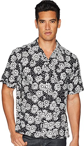 - Original Penguin Men's Short Sleeve Exploded Daisy Shirt, True Black Medium