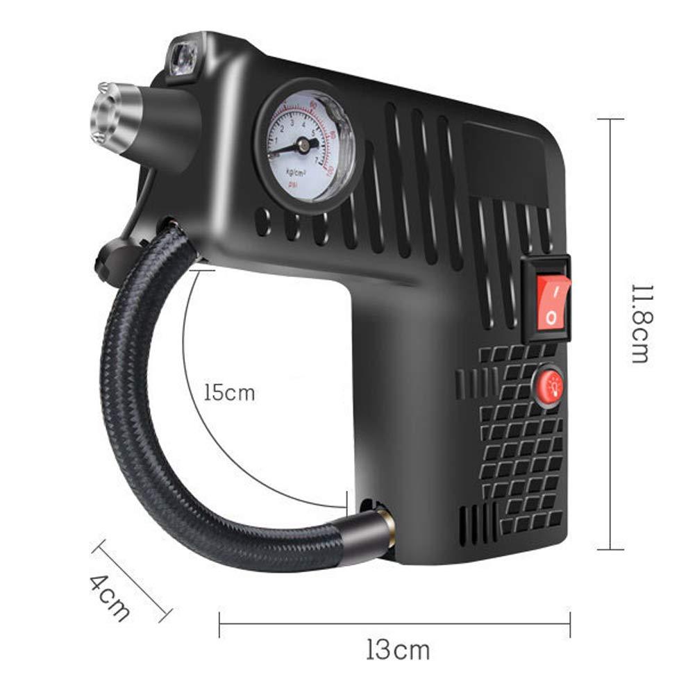 JoyFan Pompe Automatique /électrique sans Fil de gonfleur de Pneu de v/élo de Voiture de compresseur dair portatif 12V