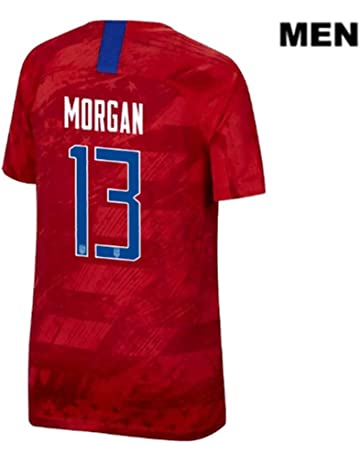 c88bdd18c4 2019 World Cup USA National Alex Morgan #13 Away Soccer Jersey Mens Color  Red