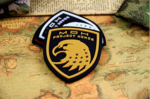 Morton Home Squad Men's Medal of Honor Special Forces Military Armband 3D PVC Patch (Yellow)