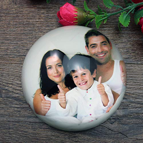 - Customized Photo & Text Paperweight - 78mm/3.1