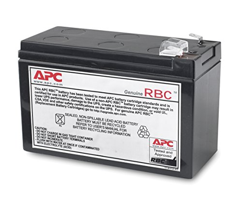 APC UPS Replacement Battery Cartridge for APC UPS Model BE550G and select others (RBC110) by APC
