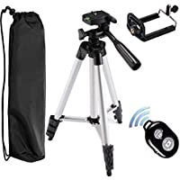 Tripod for iPhone, Peyou 50 Aluminum Camera Tripod+Bluetooth Wireless Remote Control Camera Shutter+Universal Smartphone Holder Mount for iPhone 7/7 Plus/6/6 Plus/5S, Galaxy S8/S7/S7 Edge/S6