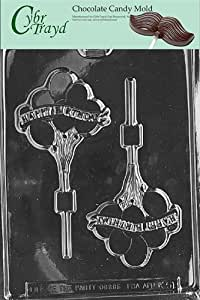 Cybrtrayd Life of the Party K051 Happy Birthday Balloons Chocolate Candy Mold in Sealed Protective Poly Bag Imprinted with Copyrighted Cybrtrayd Molding Instructions