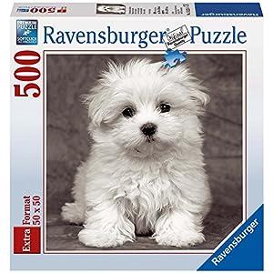 Ravensburger 15221 Puzzle Quadrato Cucciolo Di Maltese 500 Pezzi