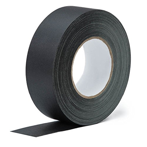 Real Premium Gaffer Tape Black 2inch x 30yards Heavy Duty Gaffer's Tape Main Stage Gaff for pro Photography, Filming Backdrop,Book Binding Repair, Easy to Tear Non-Reflective No Sticky Residue.