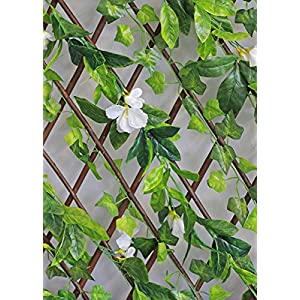 Events & Crafts Accordian Ivy Lattice Fence with Flowers 8' 2