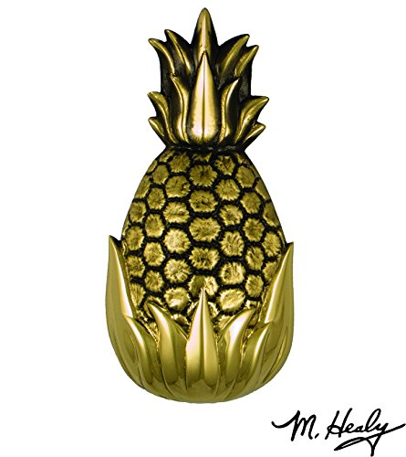 Hospitality Pineapple Door Knocker - Brass (Standard Size) (Brass Door Pineapple Knocker)