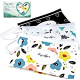 HarperLynn Reusable Baby Wipes Pouch - (3 Pack) Travel Wet Wipe Dispenser Clutch - Attach to Stroller and Refill w/up to 30 Diaper or Makeup Remover Wipes