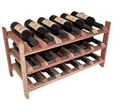 Wine Racks America Redwood 18 Bottle Stackable. 13 Stains to Choose From! For Sale